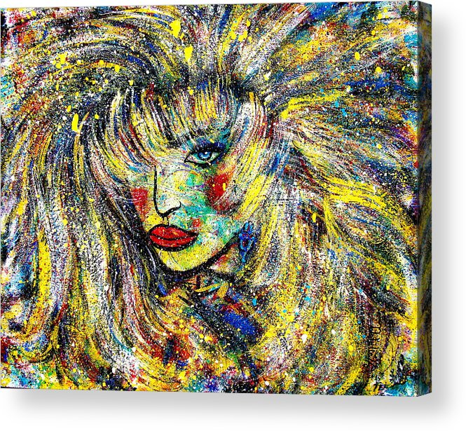Portrait Acrylic Print featuring the painting Natalya by Natalie Holland