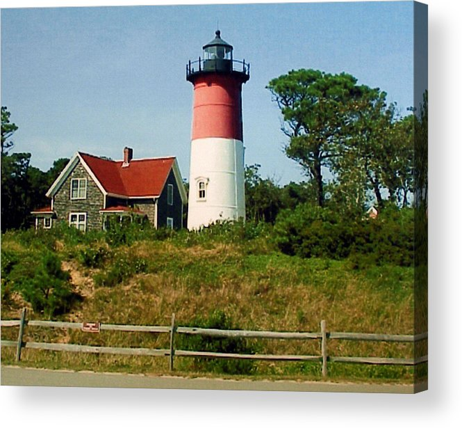 Landscape Photographs Acrylic Print featuring the photograph Nauset Lighthouse by Frederic Kohli