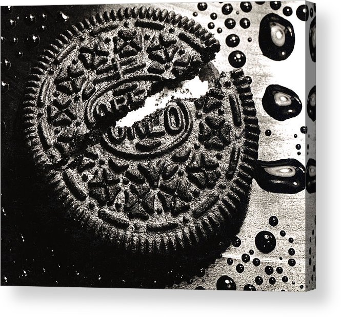 Cookie Acrylic Print featuring the photograph Oreo Cookie by Nancy Mueller