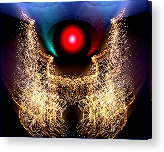 Phoenix Acrylic Print featuring the photograph Phoenix On Fire by Gerry Tetz