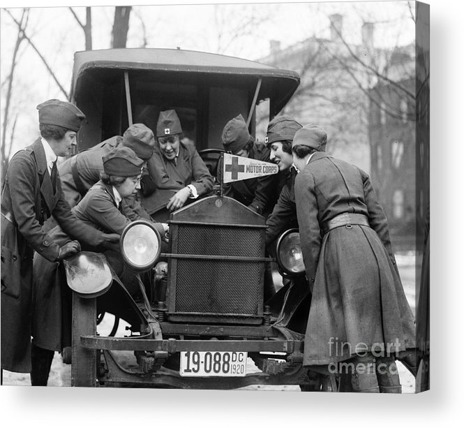 1920 Acrylic Print featuring the photograph Red Cross, C1920 by Granger