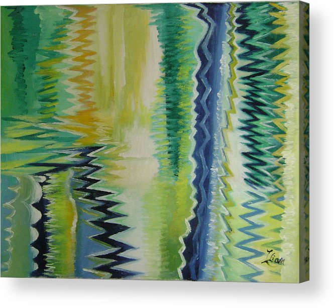 Abstract Acrylic Print featuring the painting Ripples No.2 by Lian Zhen