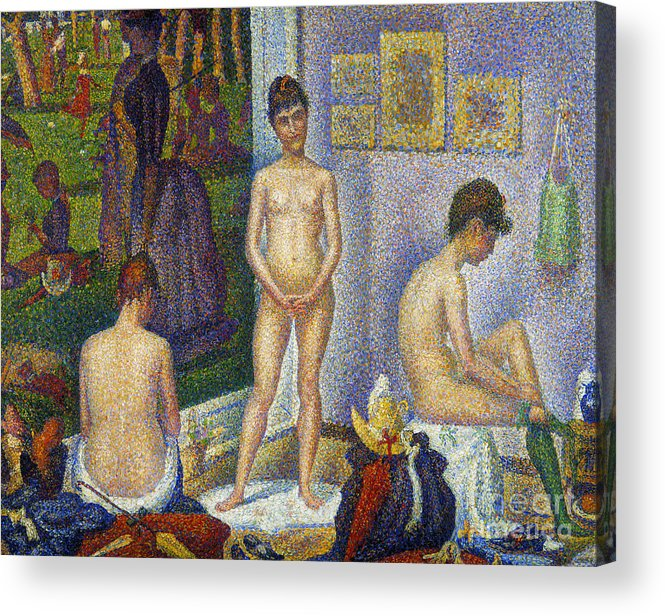 1866 Acrylic Print featuring the photograph Seurat: Models, C1866 by Granger