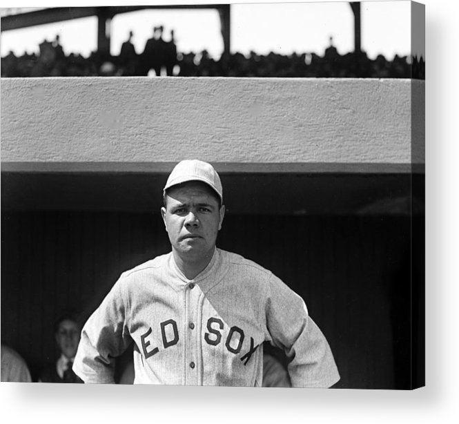babe Ruth Acrylic Print featuring the photograph The Babe - Red Sox by International Images