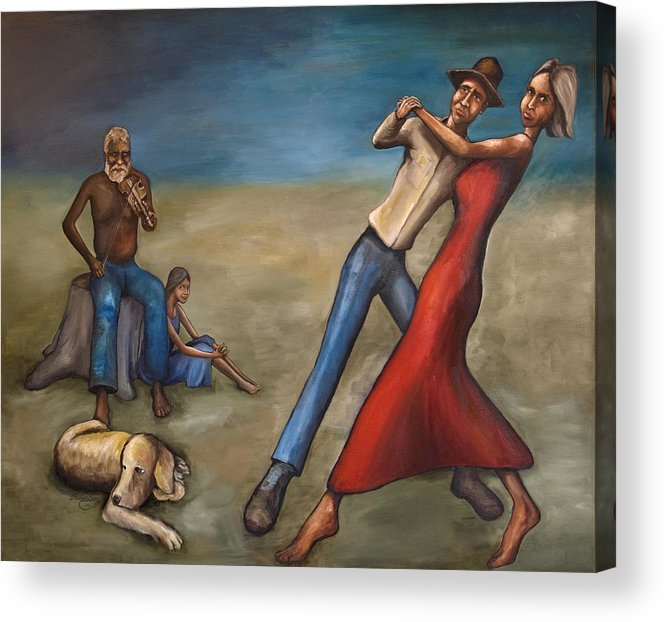 Dancers Acrylic Print featuring the painting The Dancers by Robert Lacy