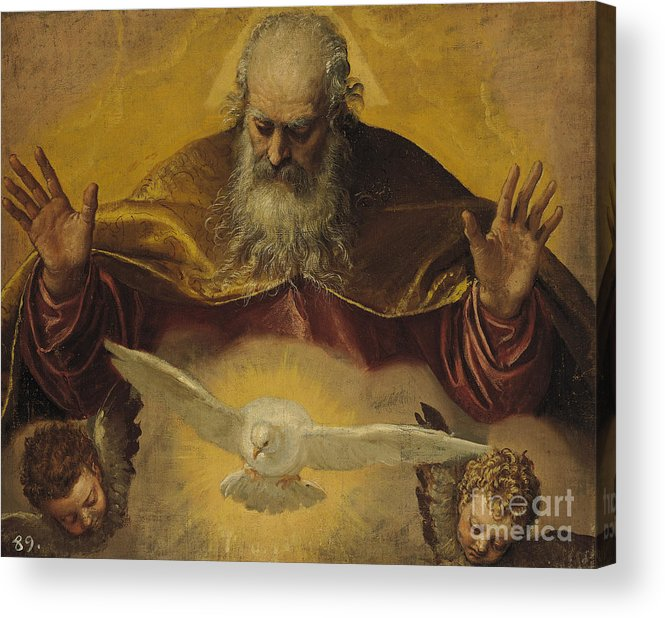 The Acrylic Print featuring the painting The Eternal Father by Paolo Caliari Veronese