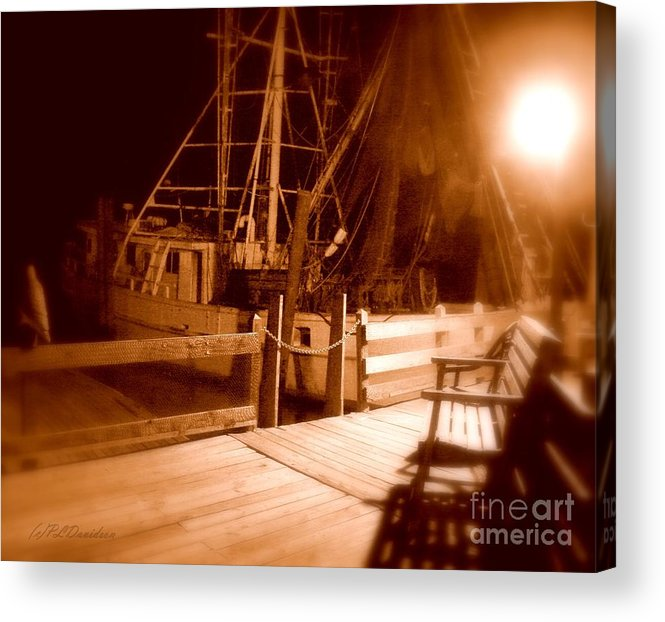 Night Acrylic Print featuring the photograph The Ghost Ship by Patricia L Davidson