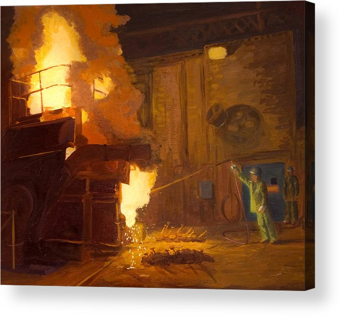 Melter Acrylic Print featuring the painting The Melter by Martha Ressler