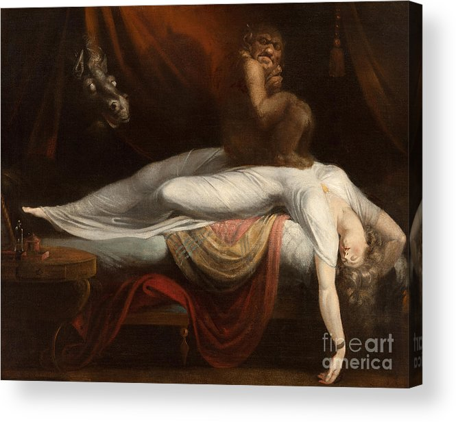 The Acrylic Print featuring the painting The Nightmare by Henry Fuseli