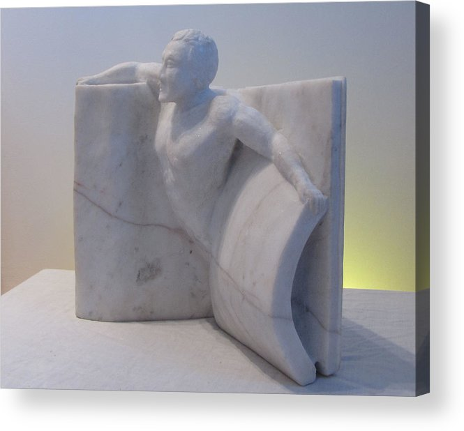 Human Figure Acrylic Print featuring the sculpture The Power Of Words by Paul Shier