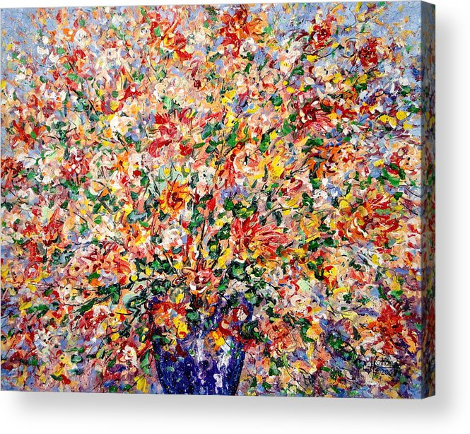 Flowers Acrylic Print featuring the painting The Sunlight Flowers by Leonard Holland