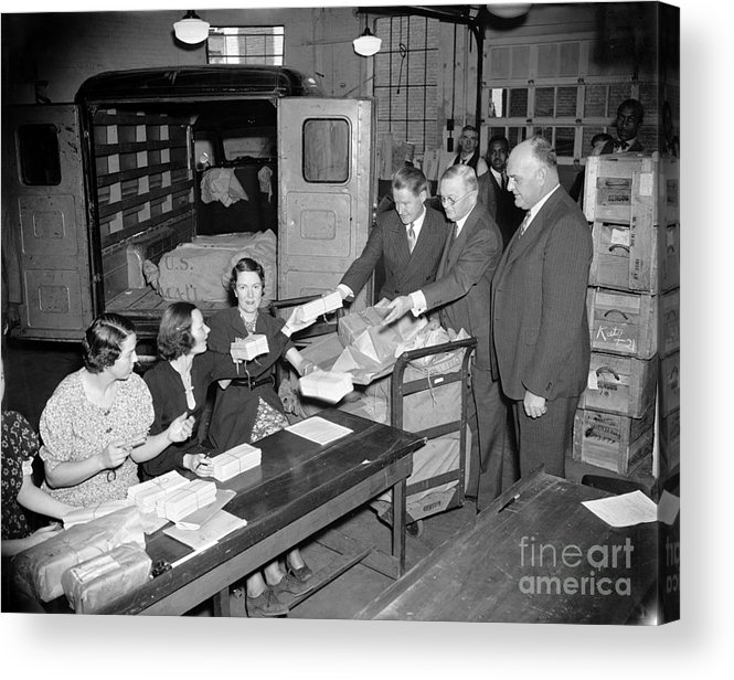 1937 Acrylic Print featuring the photograph Unemployment Census, 1937 by Granger