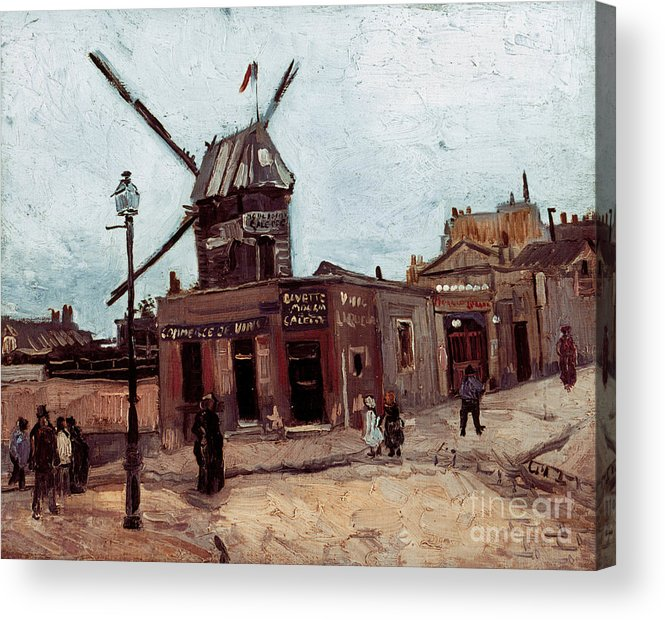 1886 Acrylic Print featuring the photograph Van Gogh: La Moulin, 1886 by Granger
