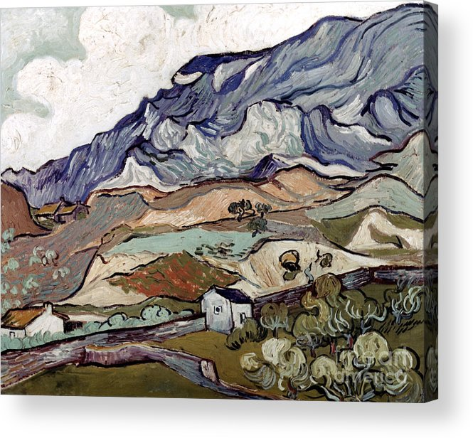 1890 Acrylic Print featuring the photograph Van Gogh: Landscape, 1890 by Granger