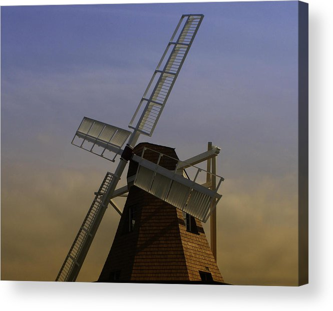 Windmill Acrylic Print featuring the photograph Windmill At Windjammer Park Wm6887a by Mary Gaines