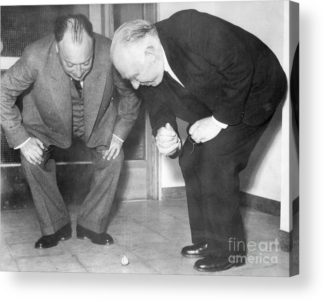 1900s Acrylic Print featuring the photograph Wolfgang Pauli And Niels Bohr by Margrethe Bohr Collection and AIP and Photo Researchers