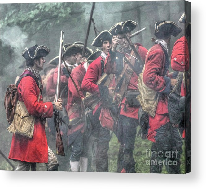 Battle Acrylic Print featuring the digital art Young Lions French And Indian War by Randy Steele