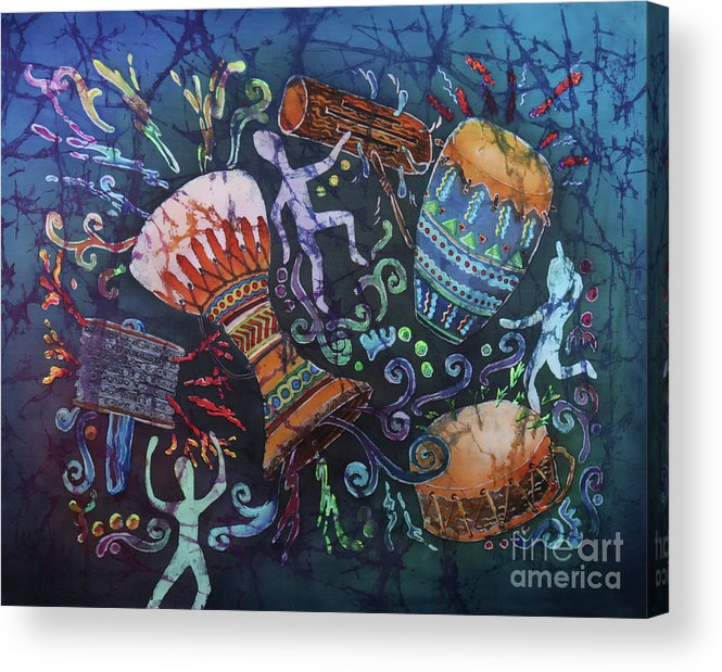 Drums Acrylic Print featuring the painting Drumbeat by Sue Duda