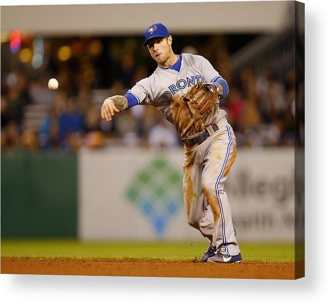 American League Baseball Acrylic Print featuring the photograph Brett Lawrie by Matt Sullivan