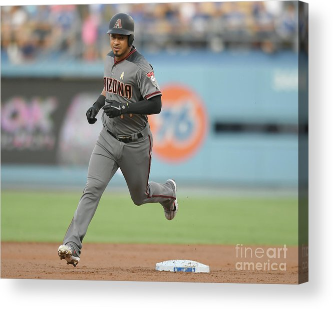 Second Inning Acrylic Print featuring the photograph Eduardo Escobar by John Mccoy