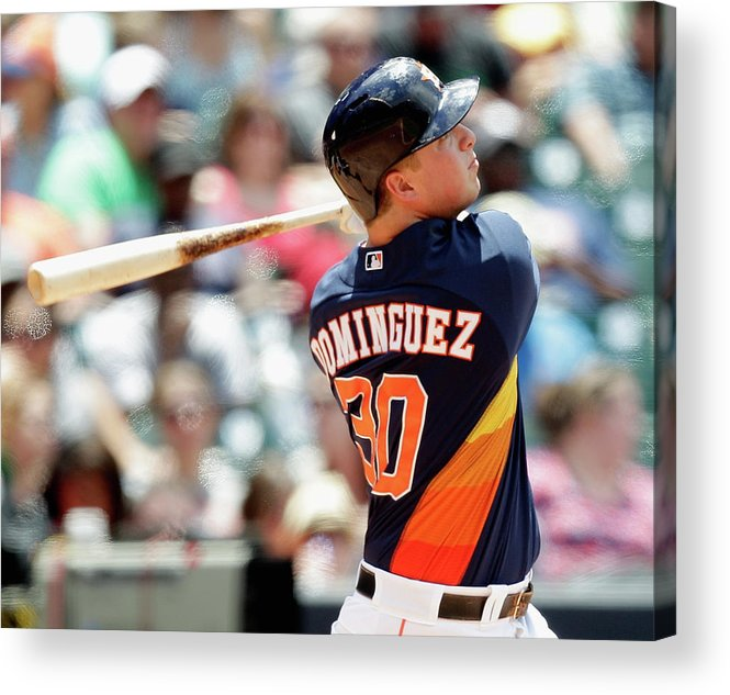 American League Baseball Acrylic Print featuring the photograph Chicago White Sox V Houston Astros by Bob Levey