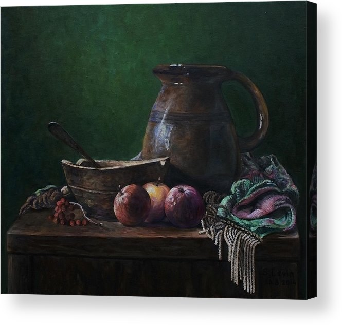Still Life Acrylic Print featuring the painting Classic Still Life by Sergey Levin