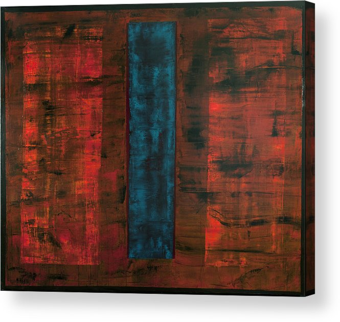 Rectangle Acrylic Print featuring the painting Complex Simplicity by Rick Cash