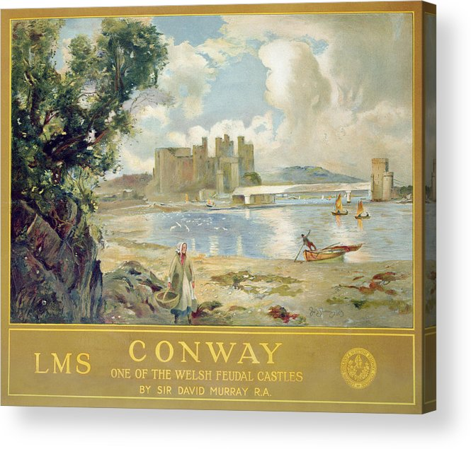 Architecture Acrylic Print featuring the painting Conway Castle by Sir David Murray