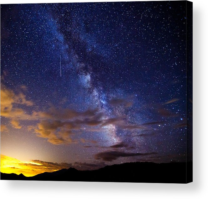 Milky Way Acrylic Print featuring the photograph Cosmic Traveler by Darren White
