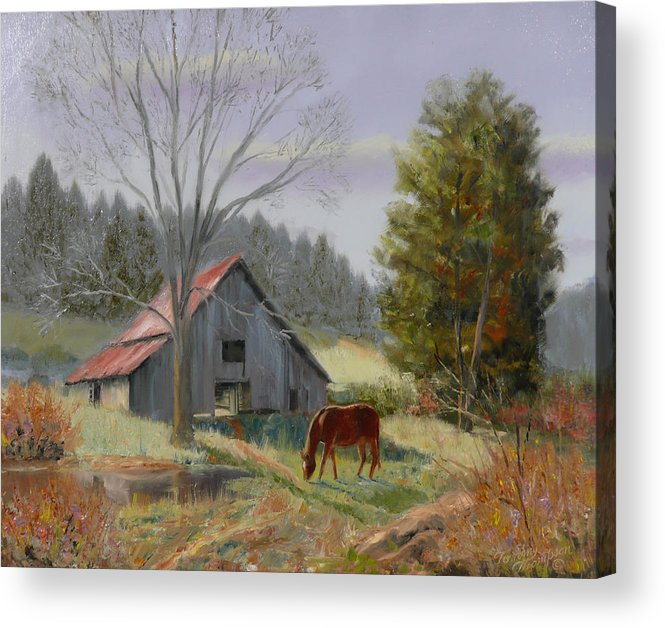 Landscape Acrylic Print featuring the painting Dream Acres by Tommy Thompson