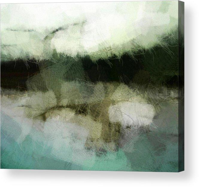 Landscape Acrylic Print featuring the digital art Early Morning Flight by Gun Legler