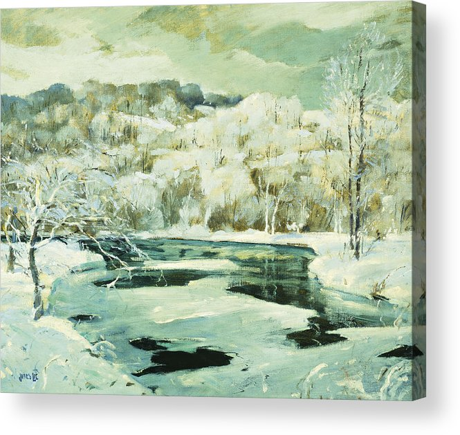 American Acrylic Print featuring the painting Frosted Trees by Jonas Lie