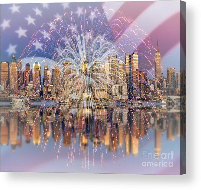 America Acrylic Print featuring the photograph Happy Birthday America by Susan Candelario