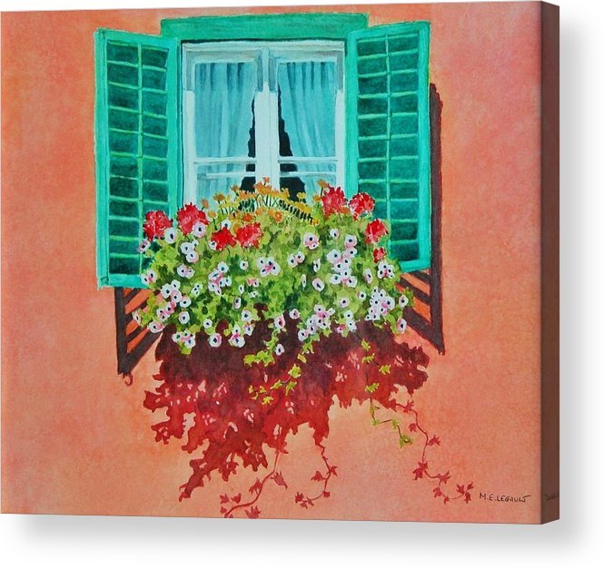 Window Box Acrylic Print featuring the painting Kitzbuhel Window by Mary Ellen Mueller Legault