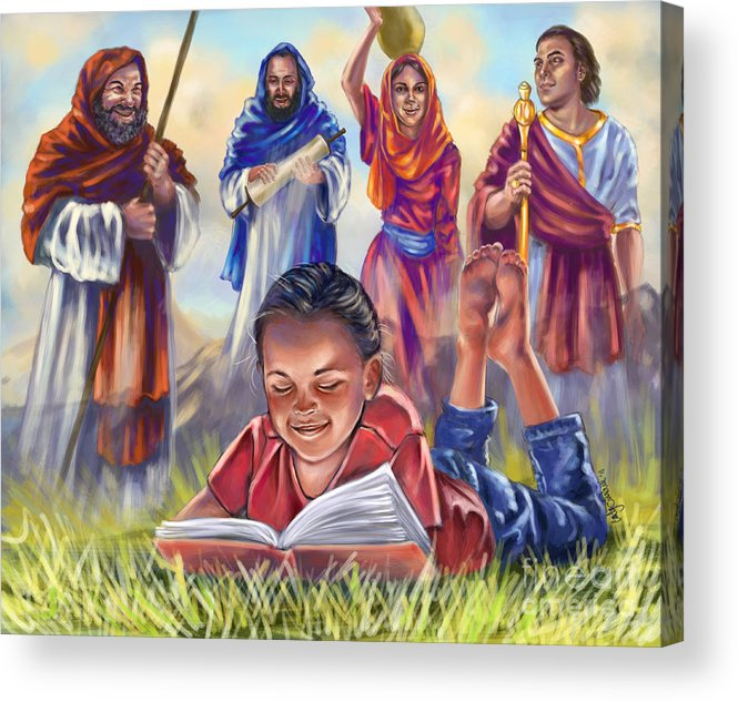 Christian Art Acrylic Print featuring the digital art Living Bible by Tamer and Cindy Elsharouni