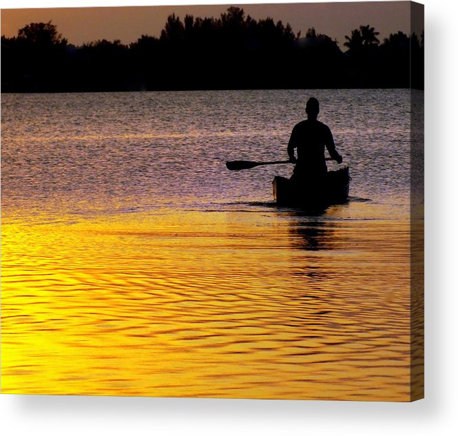 Canoes Acrylic Print featuring the photograph Peace Of Mind by Karen Wiles