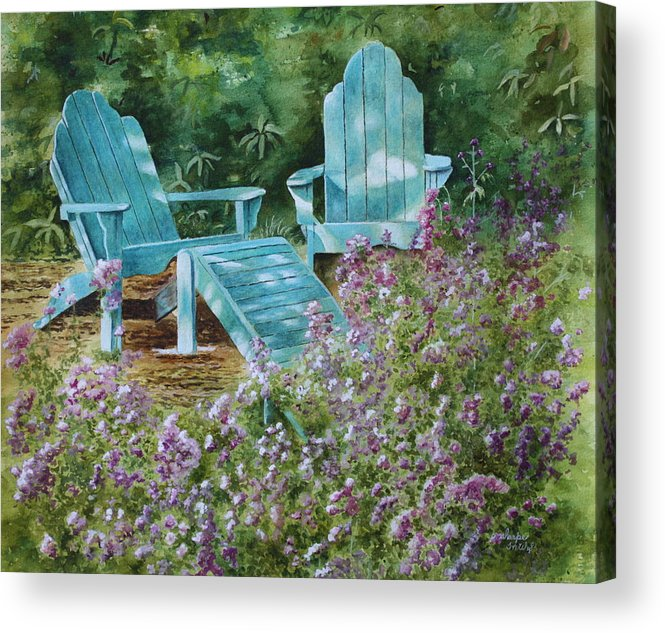 Peaceful Scene Acrylic Print featuring the painting Retirement II by Patsy Sharpe