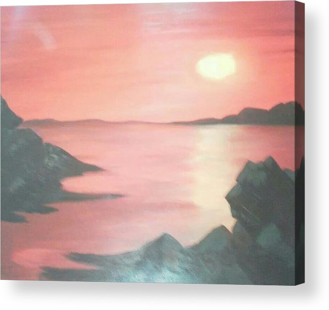 Landscape Acrylic Print featuring the painting Sailors Delight by Amanda Rardin