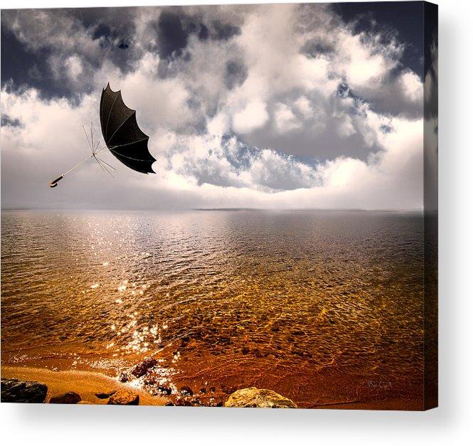 Umbrella Acrylic Print featuring the photograph Windy by Bob Orsillo