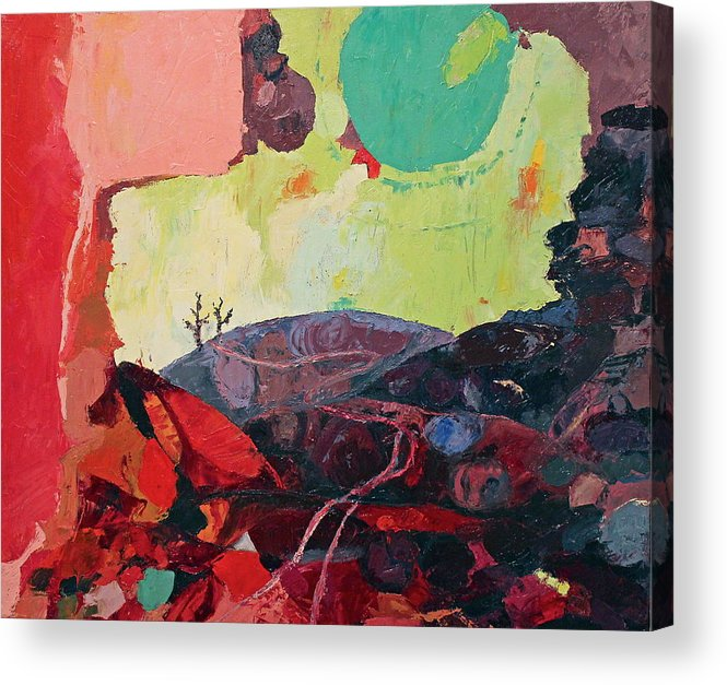 Stones Acrylic Print featuring the painting Start Leaving Things Behind by Missy Borden