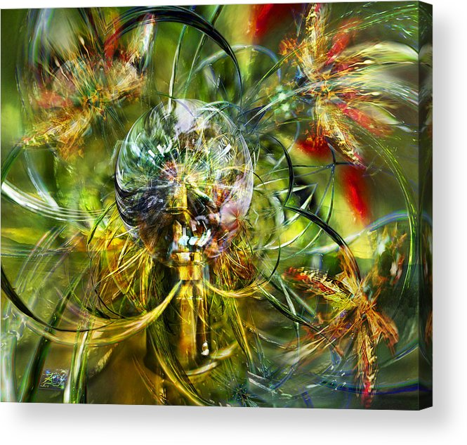 Moths Acrylic Print featuring the photograph A Storm Of Wings by Kenneth Hadlock