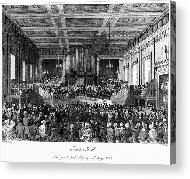 1840 Acrylic Print featuring the photograph Abolition Convention, 1840 by Granger