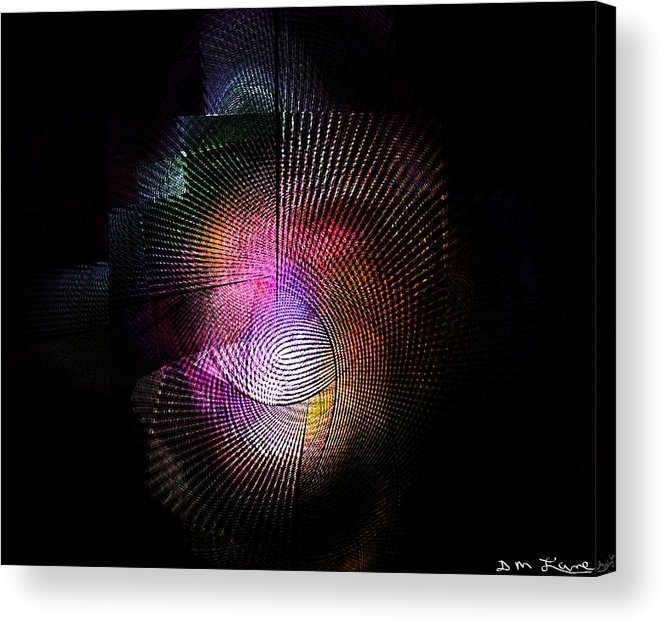 Fine Art Acrylic Print featuring the digital art Abstract110111b by David Lane
