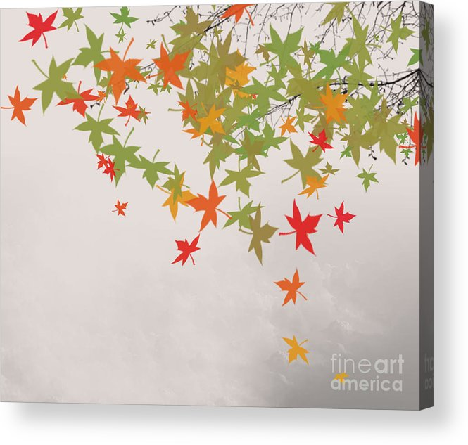 Fall Colors Acrylic Print featuring the painting Fall 2012 by Trilby Cole