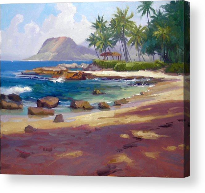Hawaii Acrylic Print featuring the painting Ko'olina Colour by Richard Robinson