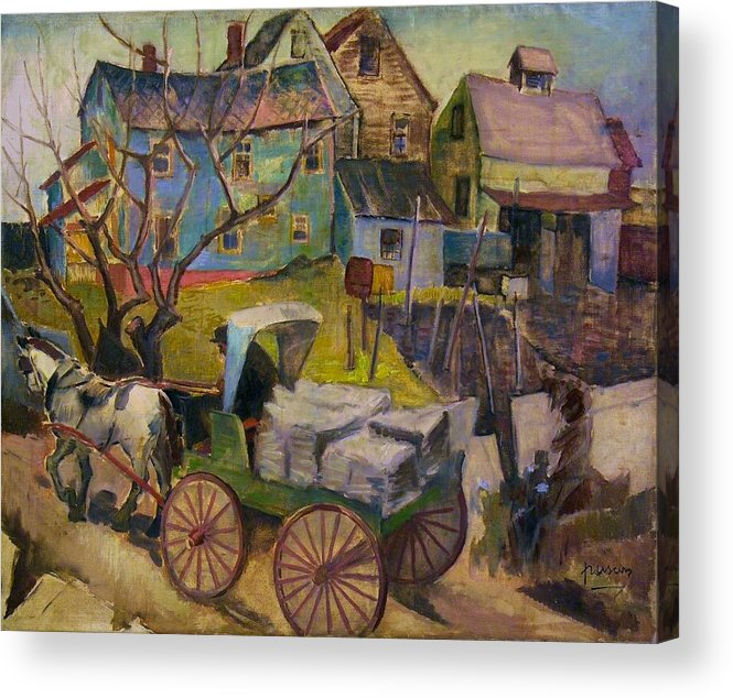 Pd Acrylic Print featuring the painting Savannah Landscape by Pg Reproductions