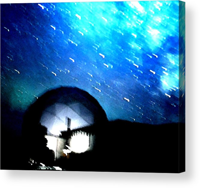 Colette Acrylic Print featuring the photograph Snow Arrives by Colette V Hera Guggenheim