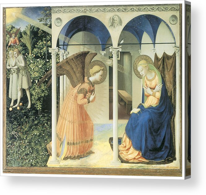 Fra Angelico Acrylic Print featuring the painting The Annunciation by Fra Angelico
