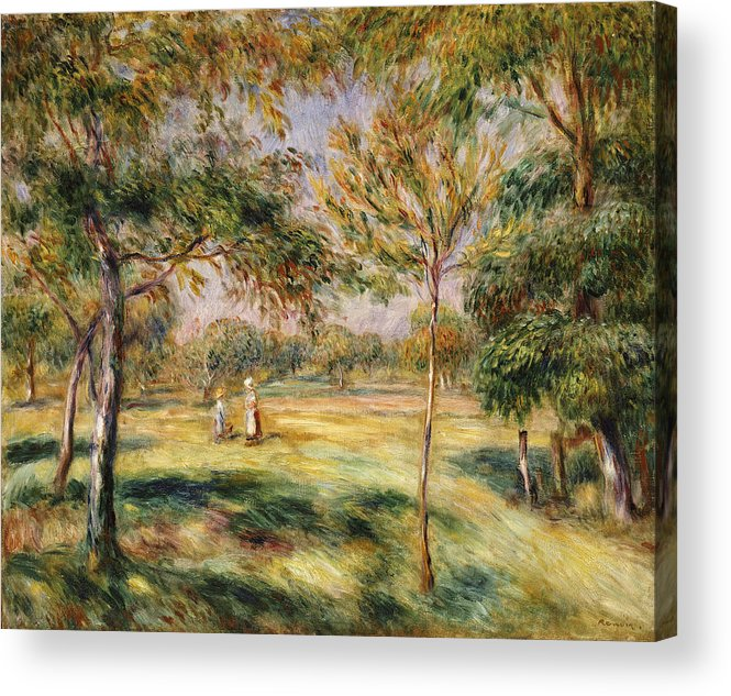 Impressionist; Impressionism; Countryside; Landscape; Tree Acrylic Print featuring the painting The Glade by Pierre Auguste Renoir