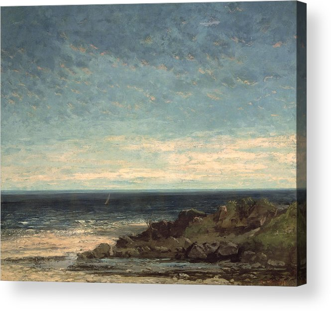 The Acrylic Print featuring the painting The Sea by Gustave Courbet
